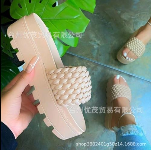 Platform flat sandals women's shoes