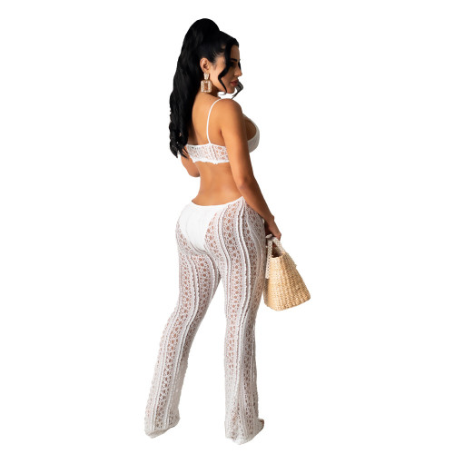 Women's lace sexy tube top suspenders jumpsuit