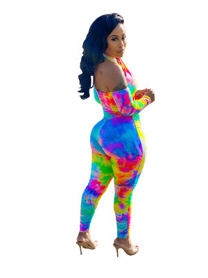 Color  Casual fashion women's tight-fitting jumpsuit