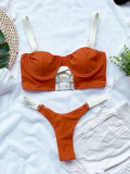 Solid color   swimsuit ladies suit swimwear cross-border bikini