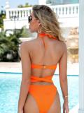 Bikini ladies swimsuit solid color swimwear cross bikini