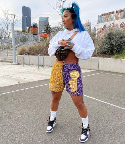 Fashion casual printed summer sports shorts shorts