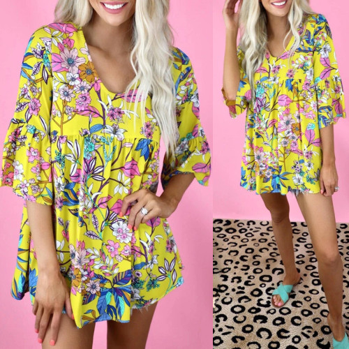 2021 summer new hot style printed round neck short-sleeved loose casual T-shirt women