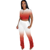 Explosive boutique solid color gradient tight-fitting sexy two-piece suit