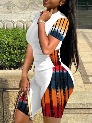 White  Casual pants suit plus size two-piece women's clothing