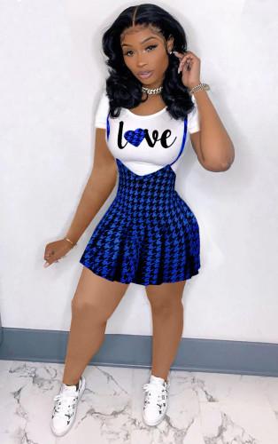 Bule Sling two-piece pleated dress
