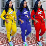T6026  New casual embroidery sports suit