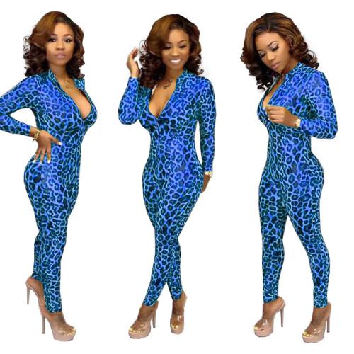 TK6032   New leopard print jumpsuit