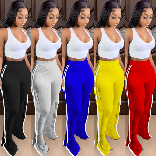Multicolor wood ear trousers stretch fabric