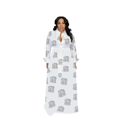 Blue  Autumn and winter plus size women's sexy dress