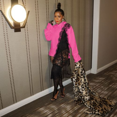 Pink Fashion loose splicing lace irregular casual sweater