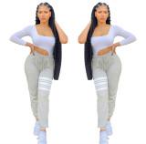 Women's Pants Trendy Fashion Printed Sweatshirt Sweatpants