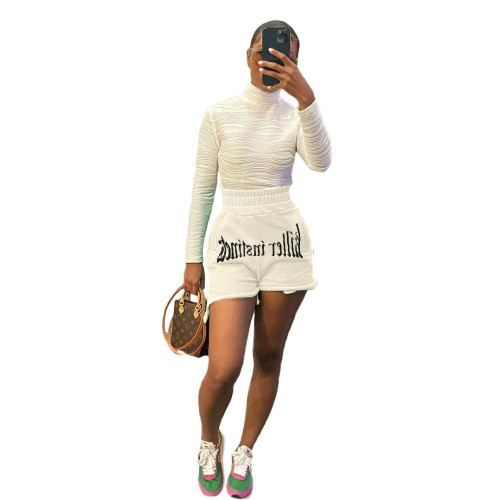 Fashion letter embroidery casual sports shorts