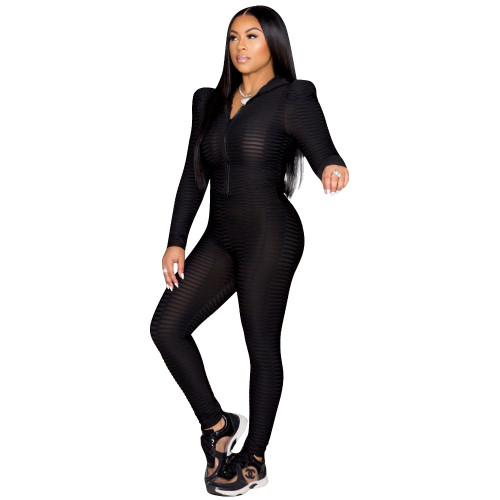 Black Pure color fish scale yoga cloth tight-fitting two-piece suit