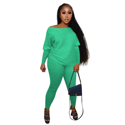 Green  Home service casual suit