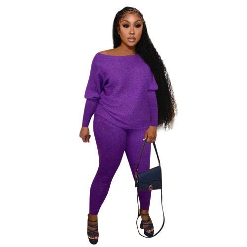 Purple  Home service casual suit