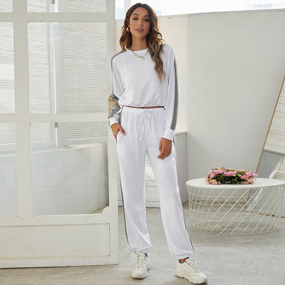 Two-piece leisure sports suit high waist sweater