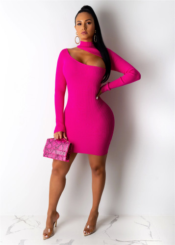 Rose red   Breathable pit strip ladies dress multicolor