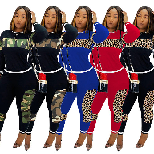 Women Fashion Long Sleeve Hoodies+Long Pants Two Pieces Set CM-611