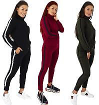 Leisure Full Sleeve Bodycon Sport Suit 2 Pieces LS-0289