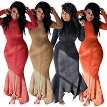 Women Full Sleeve Bodycon Floor-length Maxi Dress MIL-067