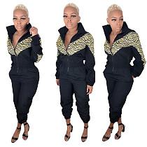 Zipper Waist Elastic Women Long Jumpsuits MOY-5132
