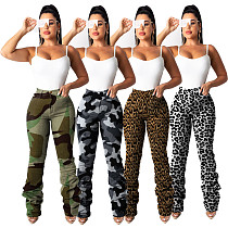 Fashion Printing Women Folds Long Pants MA-280