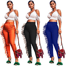 Solid Color Tassel Casual Women Pencil Pants ORY-5138