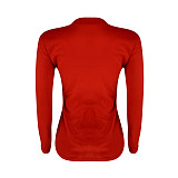 Women Nail Bead Round Collar Long Sleeve Tops YMT-6105