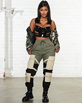 Women High Waist Pocket Pants YH-5134
