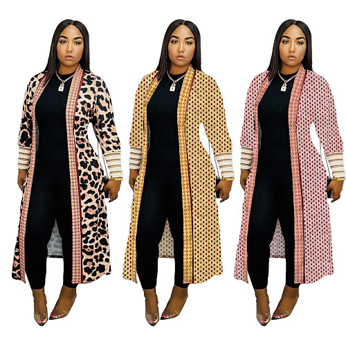 Women Fashion Screw Thread Long Cardigan Jackets ME-319