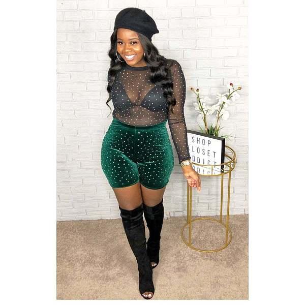Women Velvet Pearl Sport Middle Pants CYA-8260