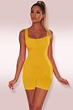 Women Solid Color Bodycon Sport Vest Rompers MZ-2408