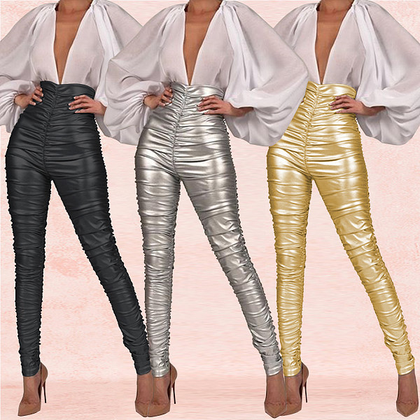 Women Bodycon High Waist Nightclub Pencil Pants BY-3306