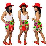 Fashion Tassels Denim Women Straight Shorts SH-3553