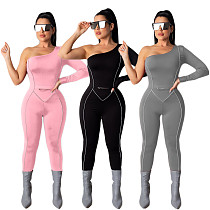 Sexy Bodycon Single Sleeves Long Jumpsuit DAI-8209