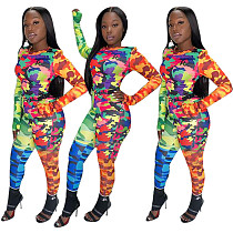 Fashion Camouflage Prints Sporty Suits 2 Pieces YF-9602