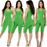 2020 Summer Women Solid Color Sport Tight Rompers SMR-9566