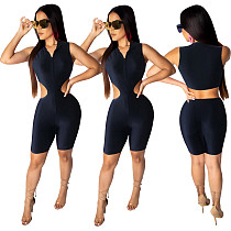 Sexy Hollow Out Sleeveless Tight Rompers TEN-3355