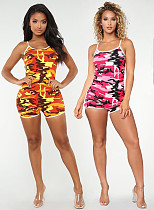 Stylish Camouflage Printed Straps Tight Rompers LDS-3053