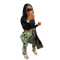 2020 New Women Camouflage Folds Pocket Long Pants LM-8134