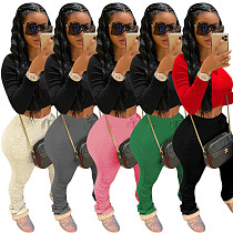 2020 New Women Cotton Folds Sport Long Pants TE-4000