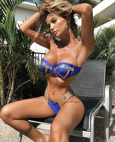 High Quality Sexy Strapless Patchwork Padded Bikini Swimsuits RT-12