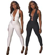 Sexy Hollow Out Sleeveless Tight Jumpsuit MK-2010