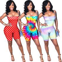 2020 Hot Women Tie-dye Sexy Strapless Backless Sleeveless Onesies Romper ASL-6100