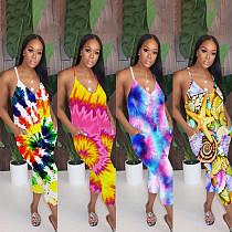 Summer Beach Colorful Suspender Women Loose Jumpsuit YH-5137