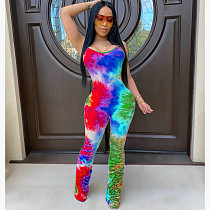Colorful Printed Straps Sleeveless Stack Jumpsuit JH-143
