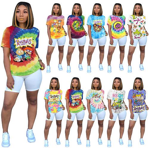 Fashion Cartoon Printing Short Sleeve Shirt T-Shirts SHD-9232