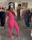 Sexy Strap Vest Stack Pants Sport 2 Pieces Set OJS-9205