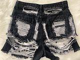 Hot Sales Tassel Rippen Classic Denim Jean Shorts LSD-8695